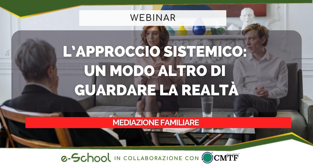 webinar mediazione familiare: l'approccio sistemico
