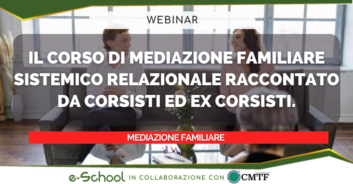 webinar mediazione familiare: il corso di mediazione familiare